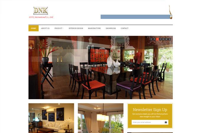 รับทำเว็บไซต์ เชียงใหม่ DNK International Co.,Ltd.