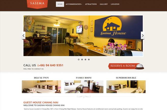 รับทำเว็บไซต์ เชียงใหม่ SASIMA HOUSE